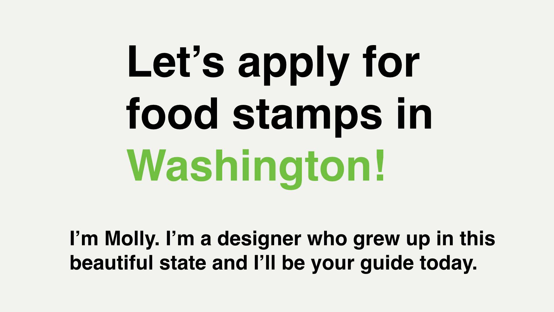 How Washington Snap Onboards New Users
